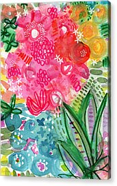 Spring Garden- Watercolor Art Acrylic Print by Linda Woods