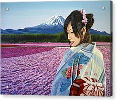 Spring In Japan Acrylic Print by Paul Meijering
