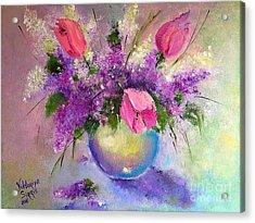 Spring Is Beautiful Acrylic Print by Viktoriya Sirris