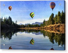 Spring Lake Acrylic Print by Ian Mitchell