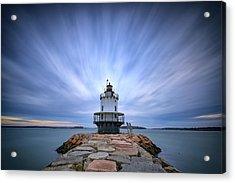 Spring Point Ledge Light Station Acrylic Print by Rick Berk