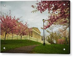 Springtime At The Buffalo History Museum - Artistic Acrylic Print by Chris Bordeleau