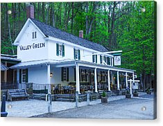 Springtime At The Valley Green Inn Acrylic Print by Bill Cannon