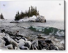 Squalls And Sea Smoke Acrylic Print by Sandra Updyke