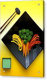 Square Plate Acrylic Print by Garry Gay