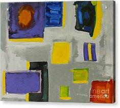 Squares Acrylic Print by Katie OBrien - Printscapes