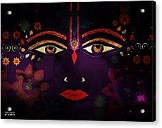 Sri Krishna Acrylic Print by Sandra Petra Art