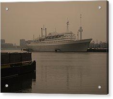 Ss Rotterdam Holland America Line Acrylic Print by Nop Briex