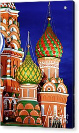 St Basils Cathedral In Moscow Russia Acrylic Print by Oleksiy Maksymenko