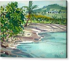 St. Croix Beach Acrylic Print by Donald Maier