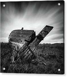 St Cyrus Wreck Acrylic Print by Dave Bowman