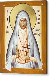 St Elizabeth The New Martyr Acrylic Print by Julia Bridget Hayes