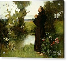 St. Francis Acrylic Print by Albert Chevallier Tayler