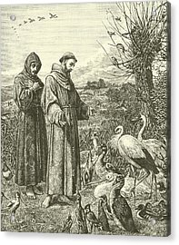 St Francis Preaching To The Birds Acrylic Print by Henry Stacey Marks