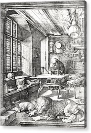 St Jerome In His Study Acrylic Print by Albrecht Durer or Duerer