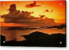 St. John Sunset Acrylic Print by Bill Jonscher