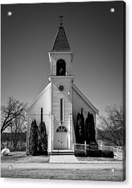 St John The Baptist Church - Arena - Wisconsin Acrylic Print by Steven Ralser