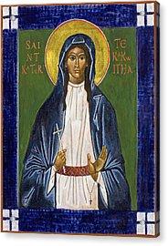 St. Kateri Tekakwitha Icon Acrylic Print by Jennifer Richard-Morrow