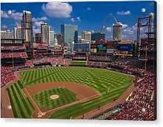 St. Louis Cardinals Busch Stadium Creative 16 Acrylic Print by David Haskett