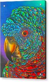 St. Lucian Parrot Acrylic Print by Daniel Jean-Baptiste