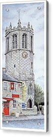 St Margarets Church Clock  Hornby  Lancashire Acrylic Print by Sandra Moore