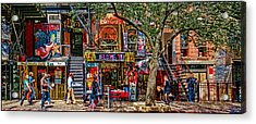 St Marks Place Acrylic Print by Chris Lord