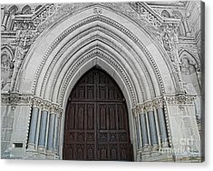 St. Mary Cathedral- Austin Texas Acrylic Print by Luther Fine Art