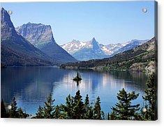 St Mary Lake - Glacier National Park Mt Acrylic Print by Christine Till