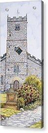 St Mary's Church Clock  Kirkby Lonsdale  Cumbria Acrylic Print by Sandra Moore