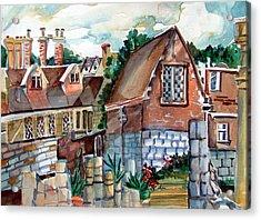 St Marys Of York England Acrylic Print by Mindy Newman