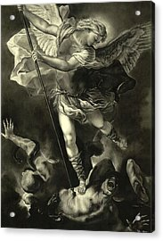St. Michael Vanquishing The Devil Acrylic Print by Tyler Anderson