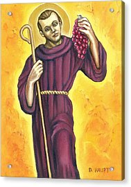 St. Morand, Patron Saint Of Wine Makers Acrylic Print by Donna Haupt