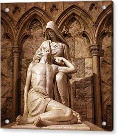 St Patrick's Pieta II Acrylic Print by Jessica Jenney