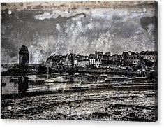 St Servan's Beach Acrylic Print by Karo Evans