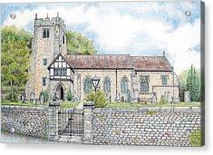 St Wilfrids Church Halton Lancashire Acrylic Print by Sandra Moore