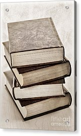 Stack Of Books Acrylic Print by Elena Elisseeva
