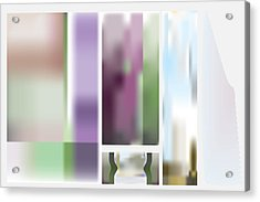 Stain Panel Foyer Acrylic Print by Kevin McLaughlin