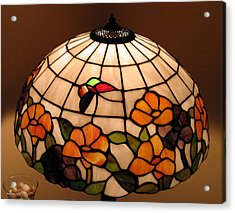Stained-glass Lampshade Acrylic Print by Suhas Tavkar