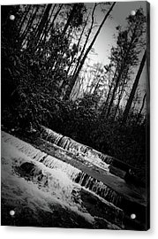 Stair Step Falls At Table Rock State Park Acrylic Print by Kelly Hazel