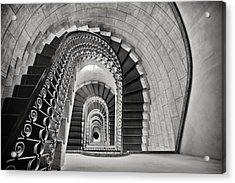Staircase Perspective Acrylic Print by George Oze