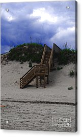 Stairway To Reality Acrylic Print by Linda Mesibov