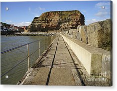 Staithes Acrylic Print by Stephen Smith