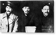 Stalin, Lenin & Trotsky Acrylic Print by Granger