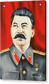 Stalin Acrylic Print by Michal Boubin