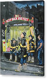 Standing Fast-engine 75 Acrylic Print by Paul Walsh