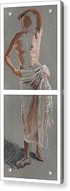 Standing Figure-diptych Acrylic Print by Gideon Cohn