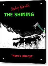 Stanley Kubricks The Shining Movie Poster Acrylic Print by Enki Art
