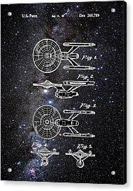 Star Trek Enterprise Patent Space Acrylic Print by Bill Cannon