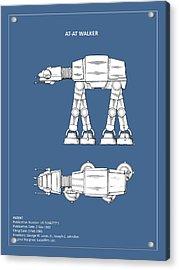 Star Wars - At-at Patent Acrylic Print by Mark Rogan