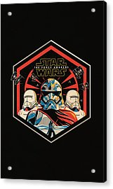 Star Wars - The Force Awakens Acrylic Print by Fht